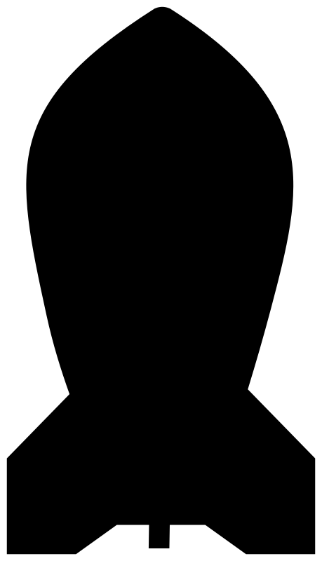 Clipart - Bomb silhouette