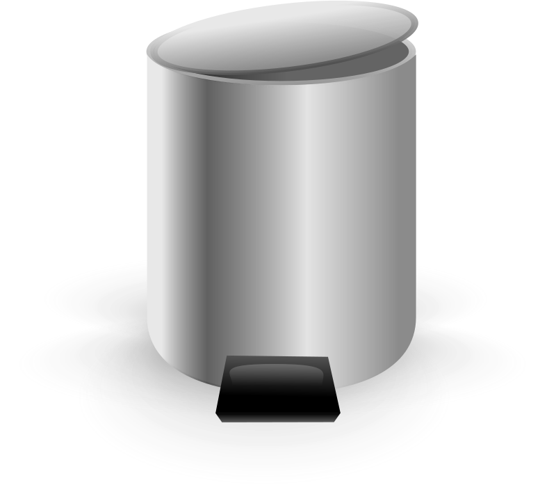 Trash - Empty by Andy - An empty trash bin icon by Andrew Fitzsimon. Etiquette Icon set. From 0.18 OCAL database.