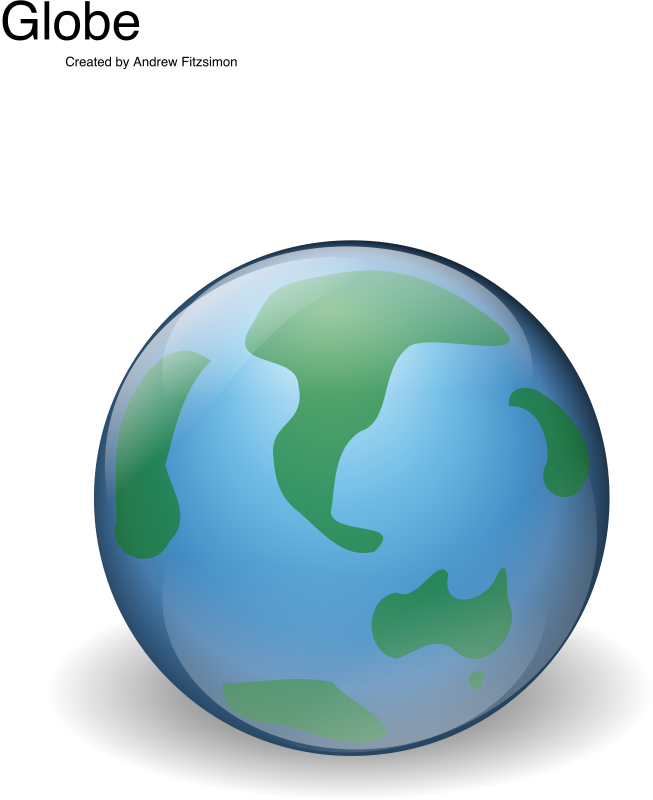 Globe by Andy - A globe icon by Andrew Fitzsimon. Etiquette Icon set. From 0.18 OCAL database.