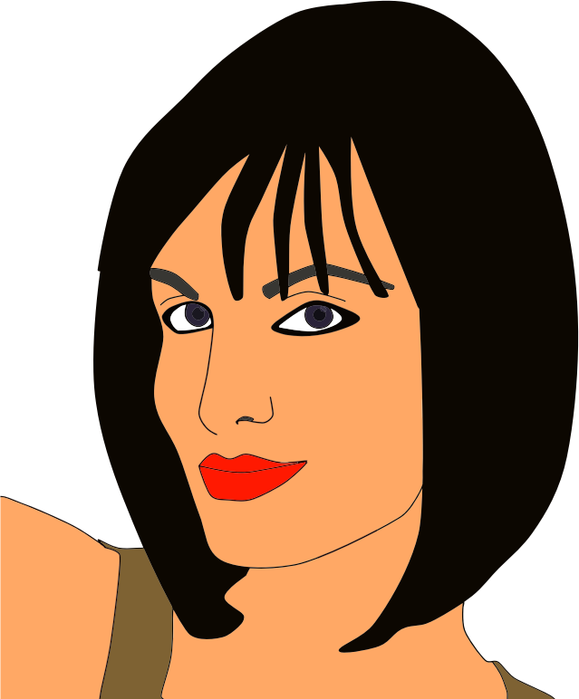Clipart - Wryly Smiling Woman