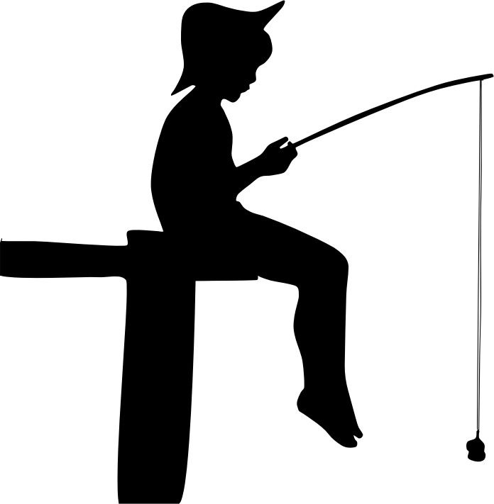 Fishing silhouette clip art
