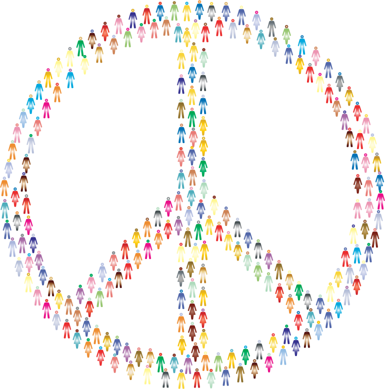 Clipart Prismatic People For Peace Mark Ii 2