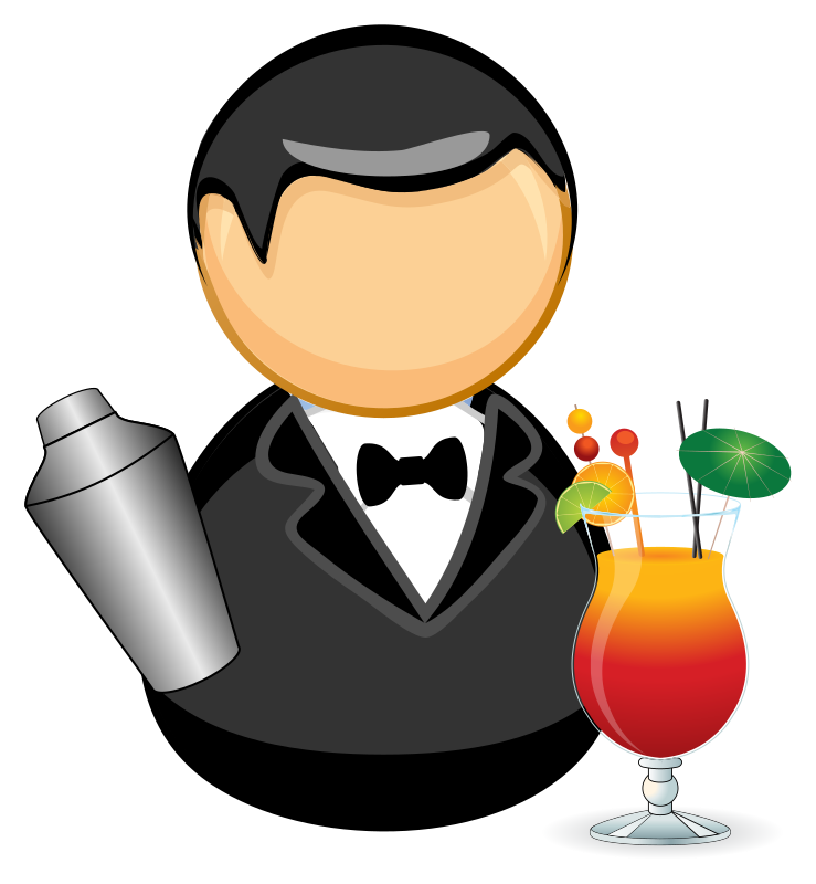 Clipart - Barman