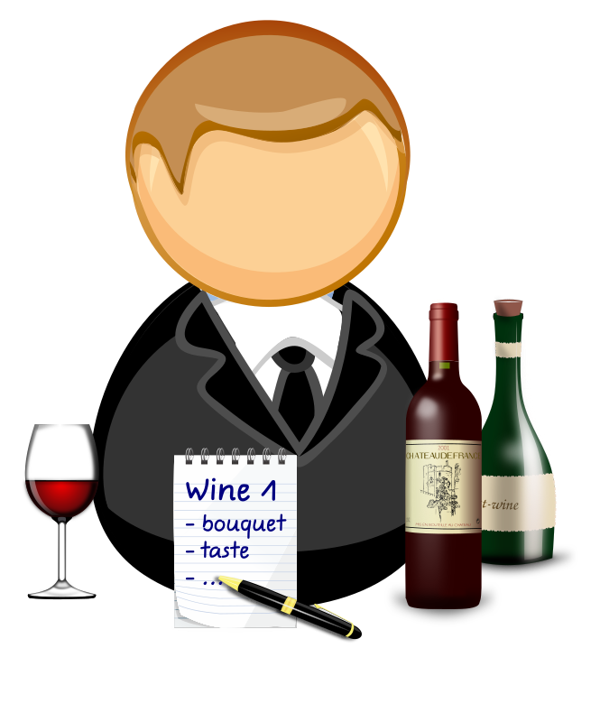 Clipart - Sommelier / wine steward