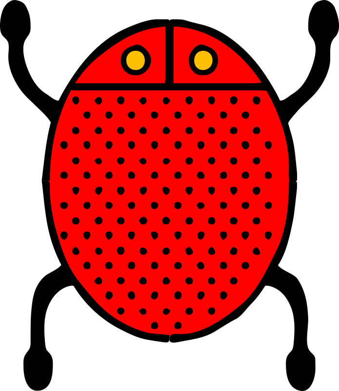 Architetto -- Coccinella 02 by francesco_rollandin - Simplified ladybug by Francesco 'Architetto' Rollandin.