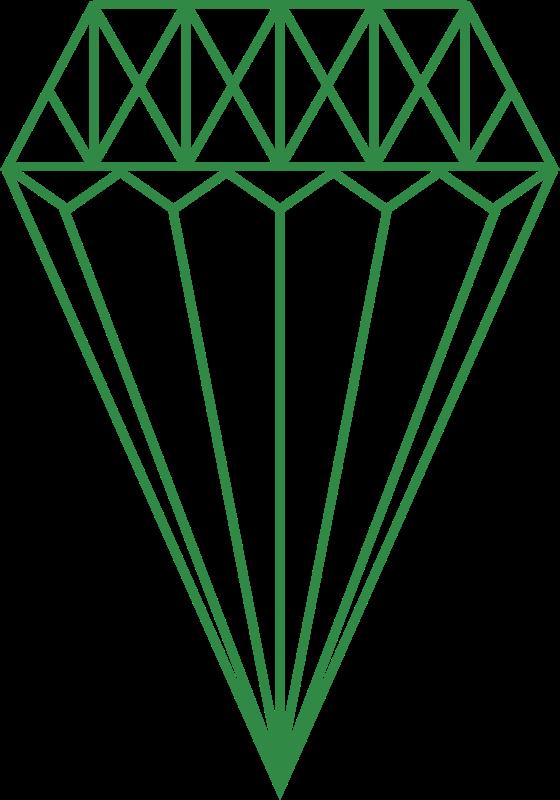 Clipart - Green Diamond