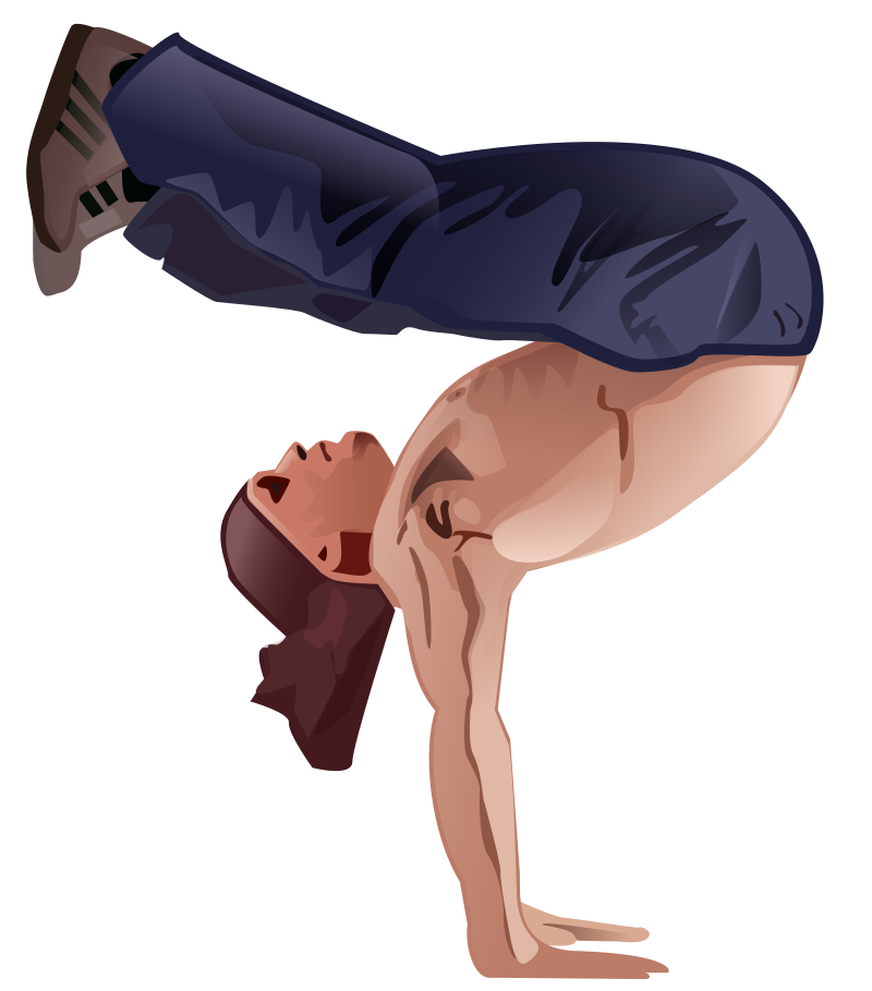 Handstand by Andy - A Man doing a handstand by Andrew Fitzsimon. Etiquette Icon set. From 0.18 OCAL database.