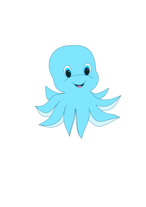 Clipart cute octopus for Cute octopus drawing