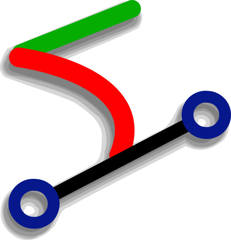 Bezier by Andy - An icon of a bezier curve by Andrew Fitzsimon. Etiquette Icon set. From 0.18 OCAL database.