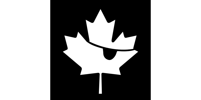 Canadian Pirates by seize1three - Canadian flag in black and white. (Checked by chovynz)