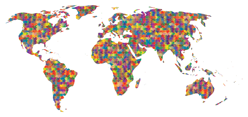 Clipart prismatic jigsaw puzzle world map 5 pdf gumiabroncs Choice Image