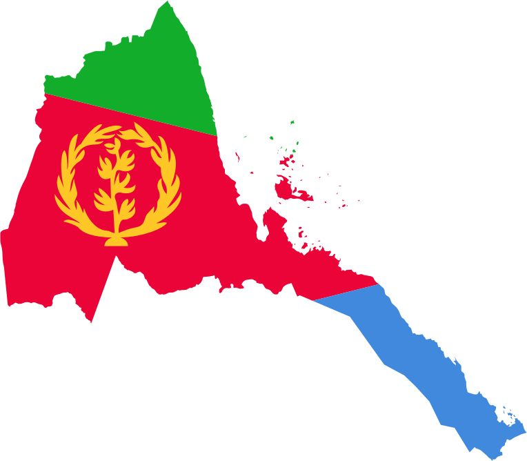 Clipart - Eritrea Flag Map