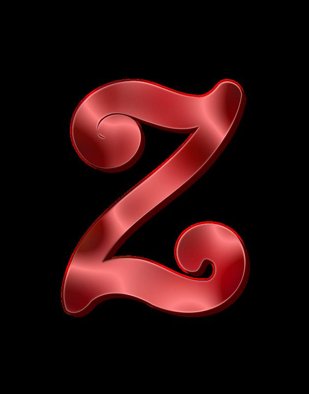 Clipart - Alphabet 12, letter Z