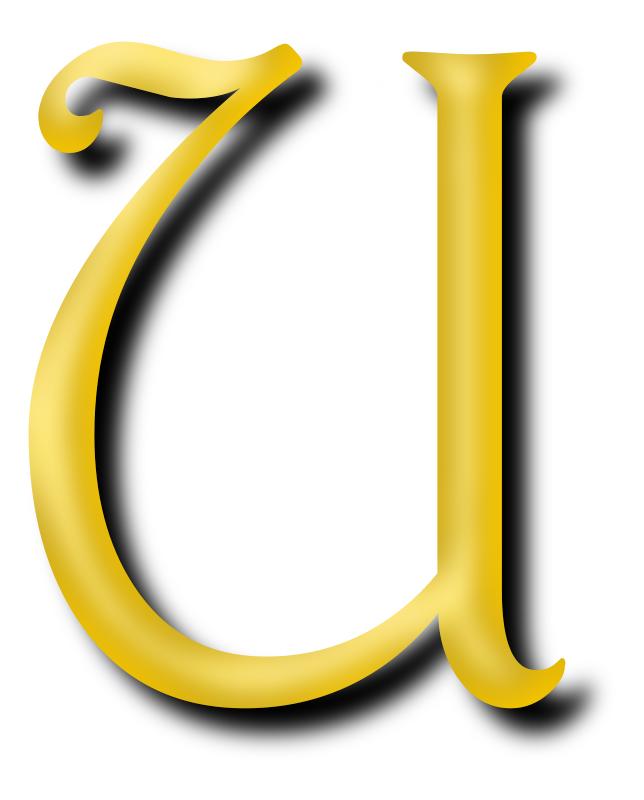 Clipart - Alphabet 13, letter U