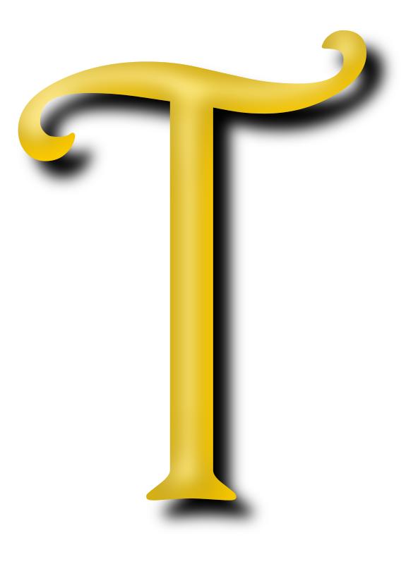 Clipart - Alphabet 13, letter T