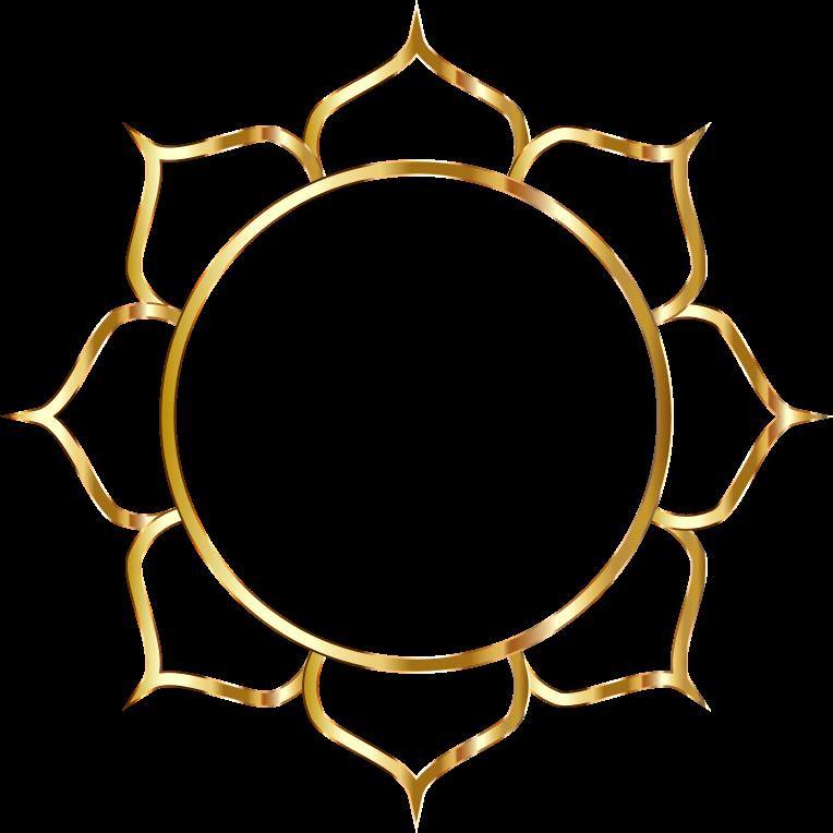 Line Art Png : Clipart gold lotus flower line art no background