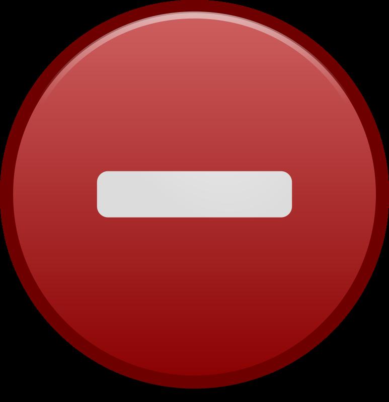Clipart - Negative Emblem Icon