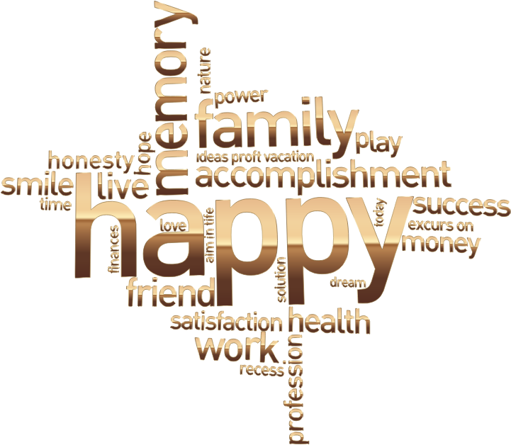 Clipart - Happy Family Word Cloud No Background