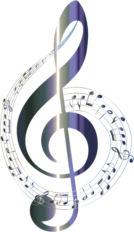 Clipart - Lacquered Musical Notes Typography No Background
