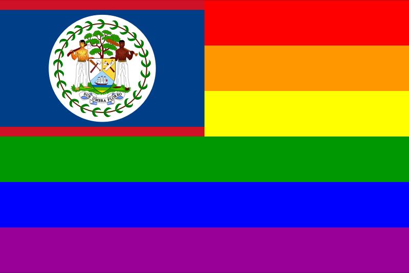 Clipart - The Belize Rainbow Flag