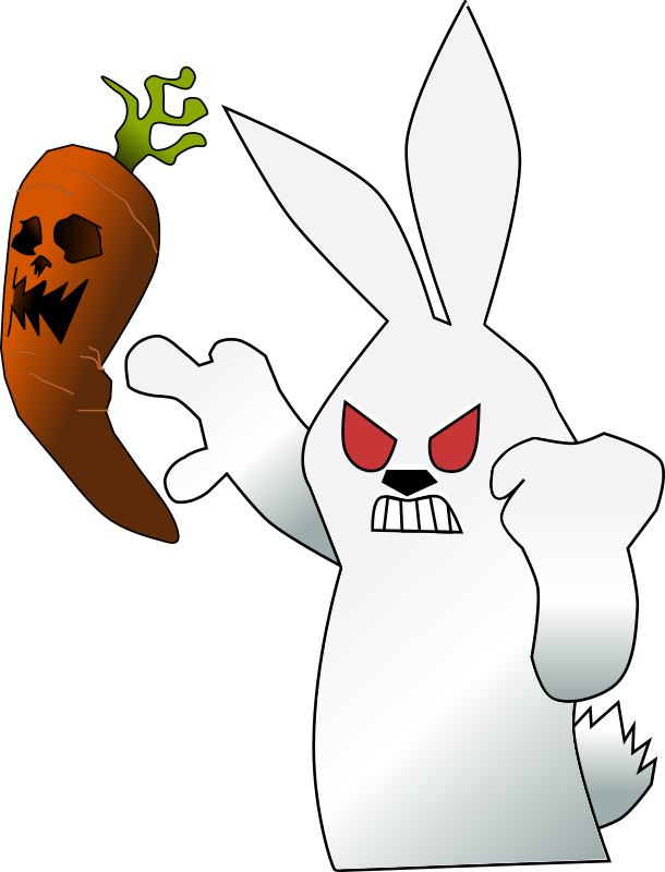Mad Wabbit by ecuabron - just a little rabbit and a carrot