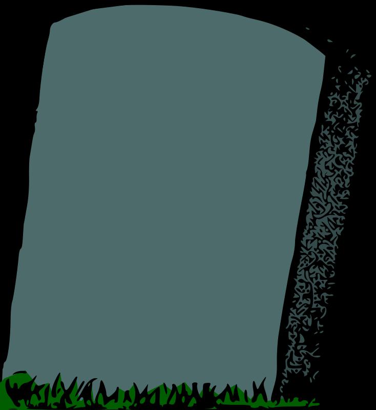 Clipart - Gravestone (colour)