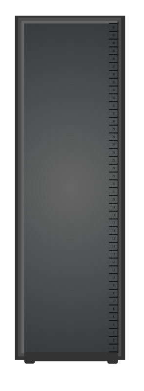 Server Rack by pbulteel - A server rack. I've used 12 pixels per U. To make things easier, make your major grid lines 12 pixels and snap to grid.