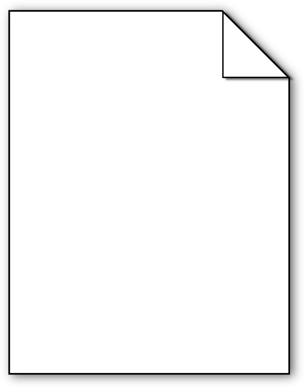 file diagram by pdesjardins - A vector drawing of a blank piece of paper.  The intent is that it will be used as a component in instructional diagrams.