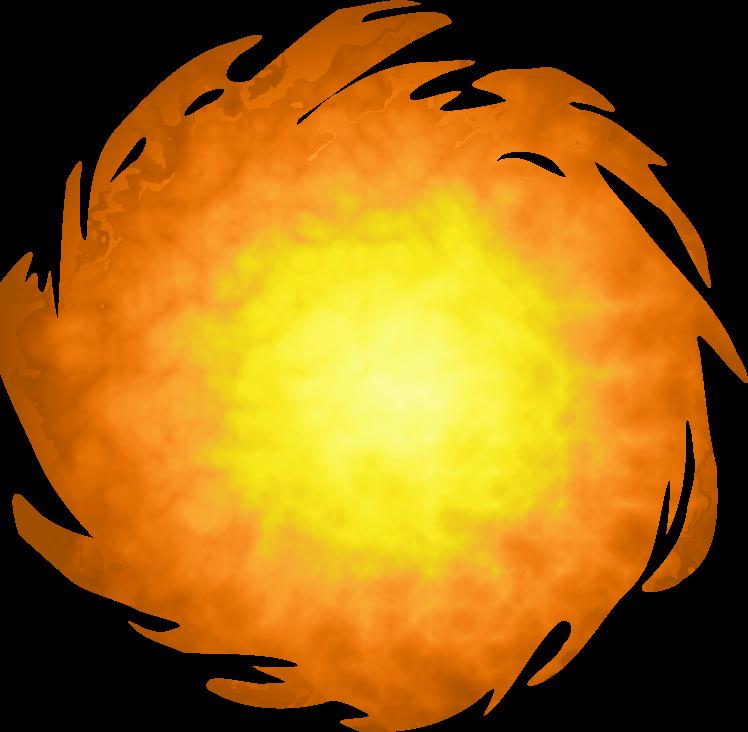 Clipart - Fireball