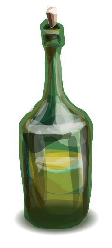 bottle by hrum - An old glass bottle, maybe rum or whisky.