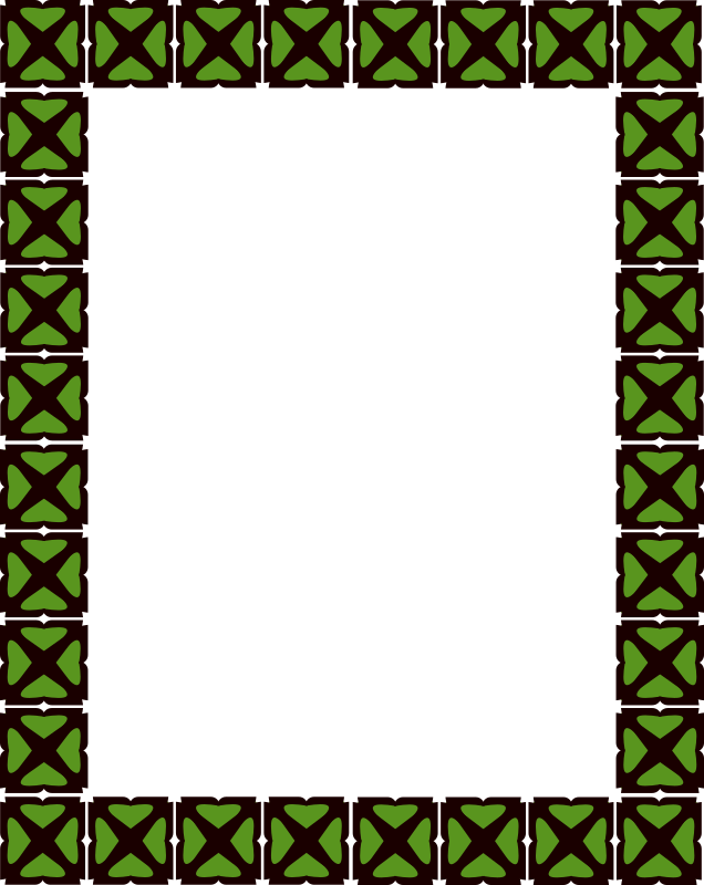frame 2 by Angelo_Gemmi - Square frame in black and green.