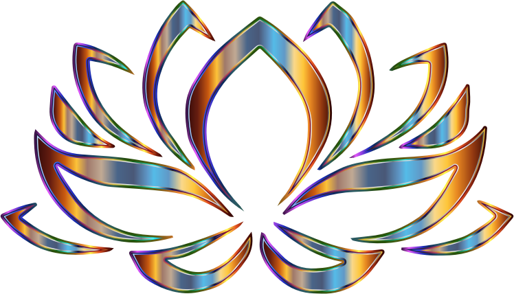 Clipart - Psychedelic Lotus Flower