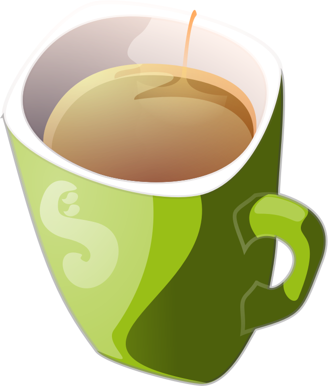 green mug of tea by Anonymous - from old OCAL site