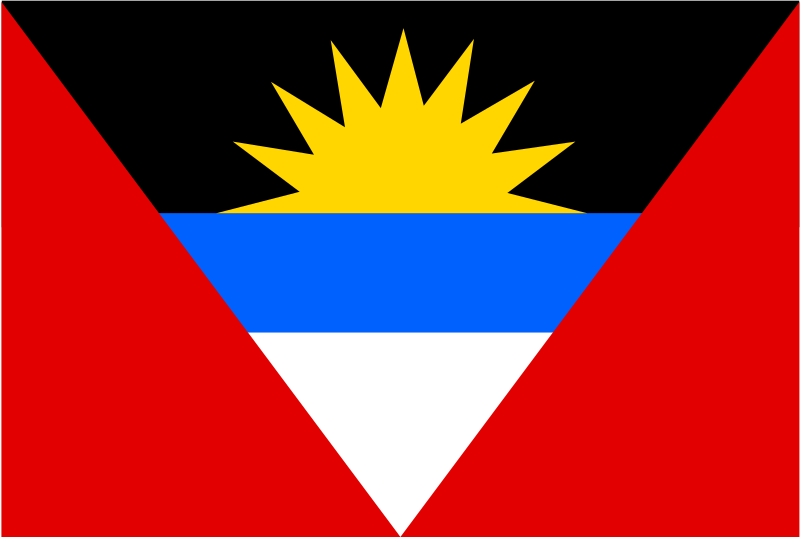 flag of Antigua and Barbuda by Anonymous - from old OCAL site