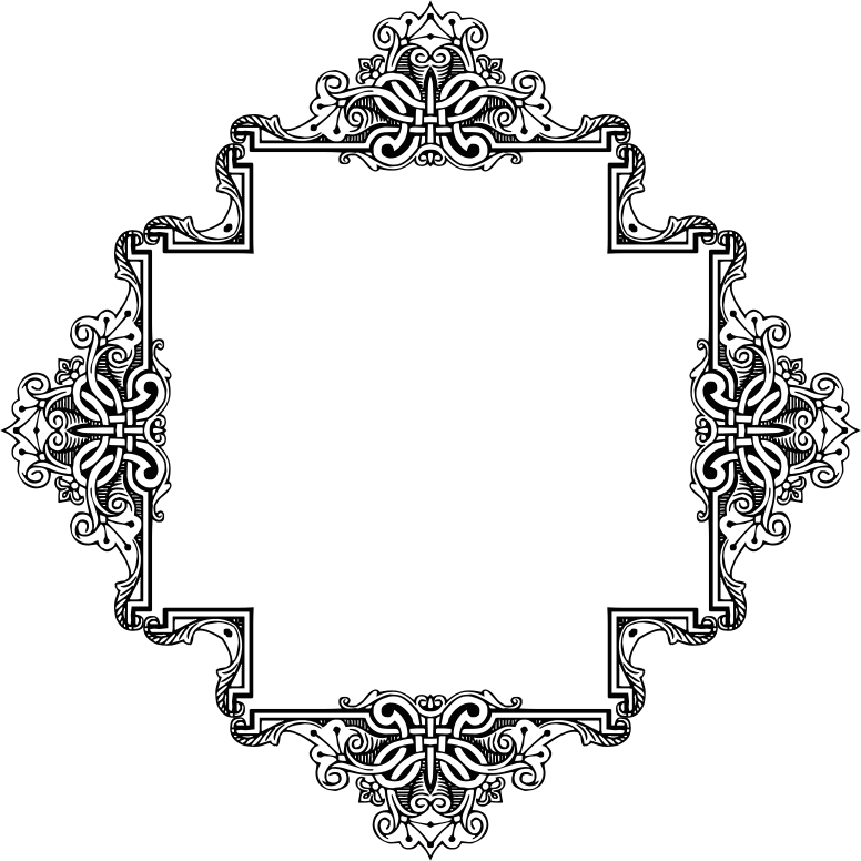 Clipart - Vintage Symmetric Frame Extrapolated 5