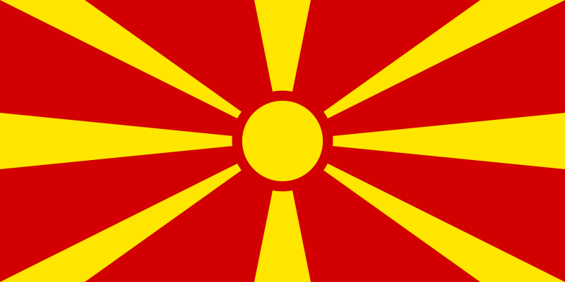flag of Macedonia by Anonymous