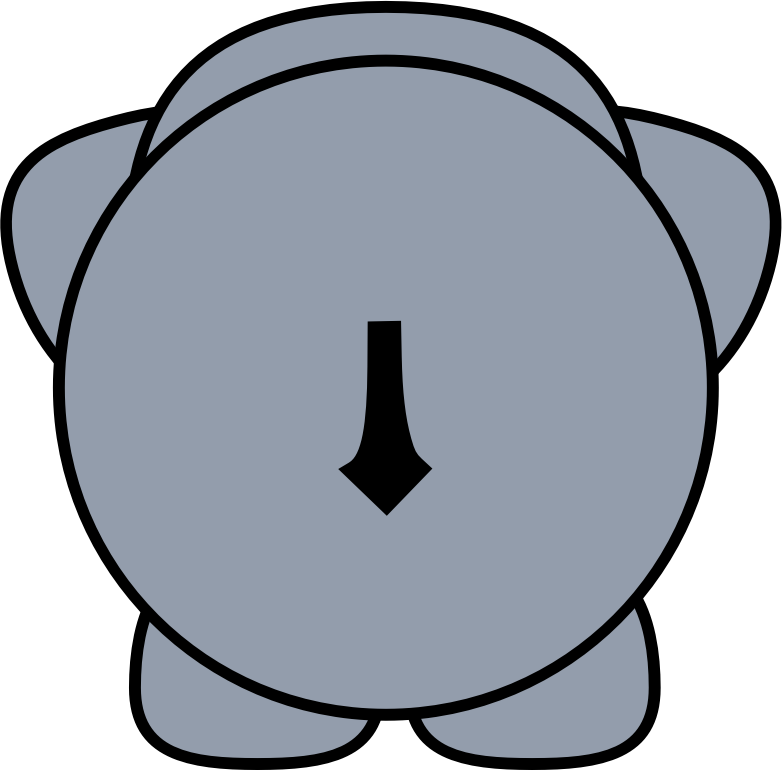 Clipart - elephant 2 BACK