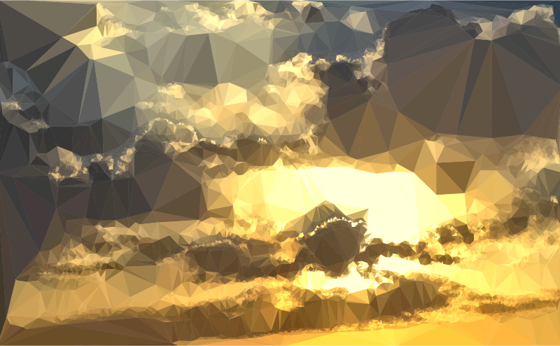 Clipart - Low Poly Golden Sunset 2