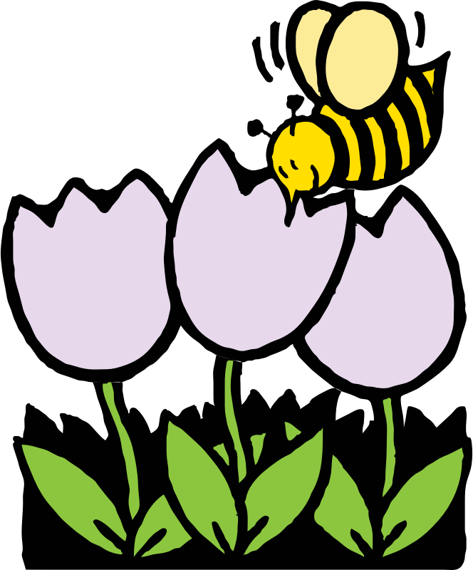 bee and flowers by johnny_automatic - source: