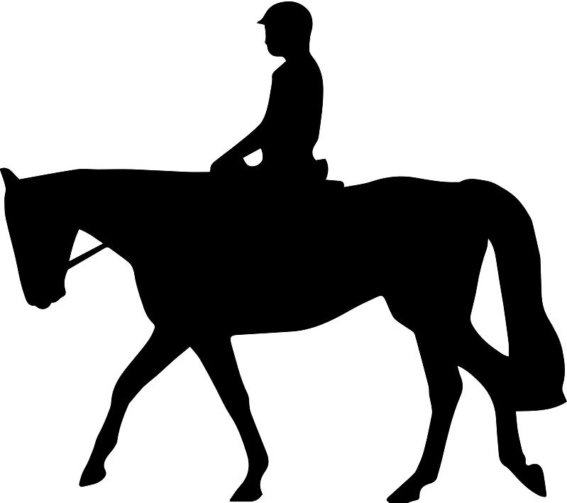 Dressage horse silhouette clip art