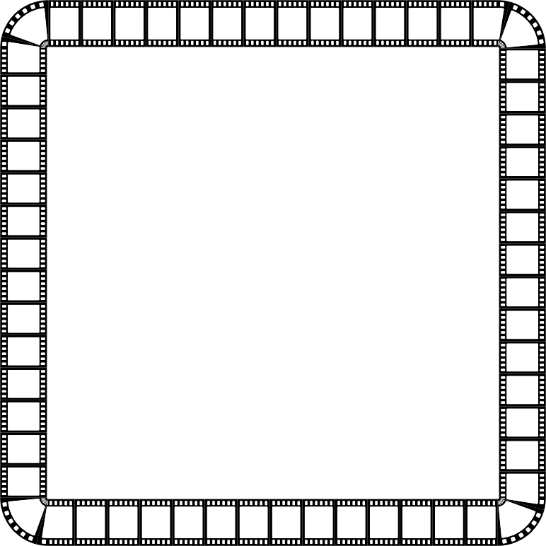 Clipart - Film Strip Square Frame