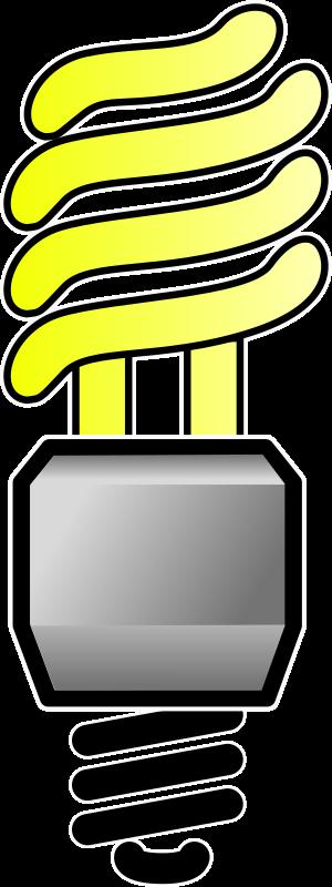 Clipart - Energy Saver Lightbulb - On