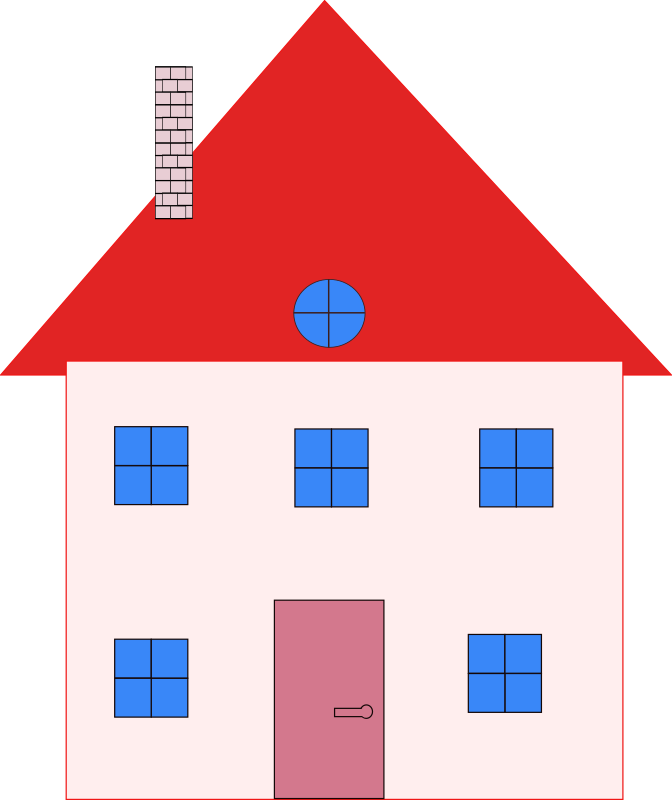House 2 by Machovka - House with red roof.