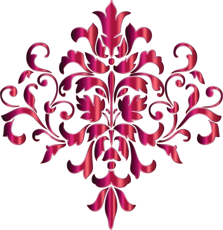 Clipart Festive Damask Design 2 No Background