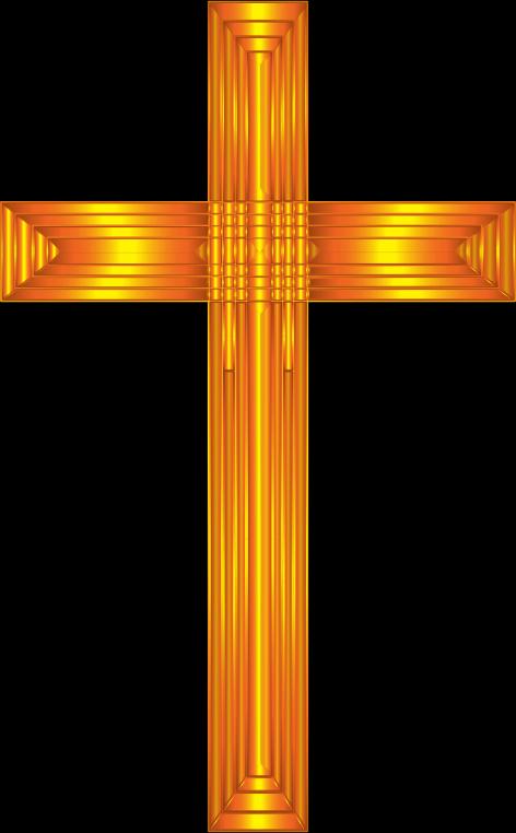 Clipart - Golden Cross No Background