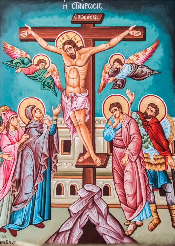Clipart - Greek Orthodox Crucifixion Of Jesus Christ Mural