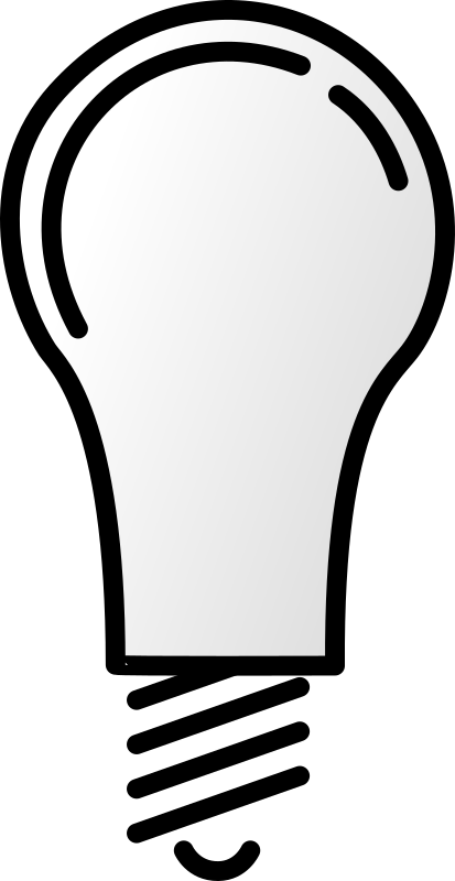 Lightbulb Off by bpcomp - An off lightbulb by Benji Park. From old OCAL site.