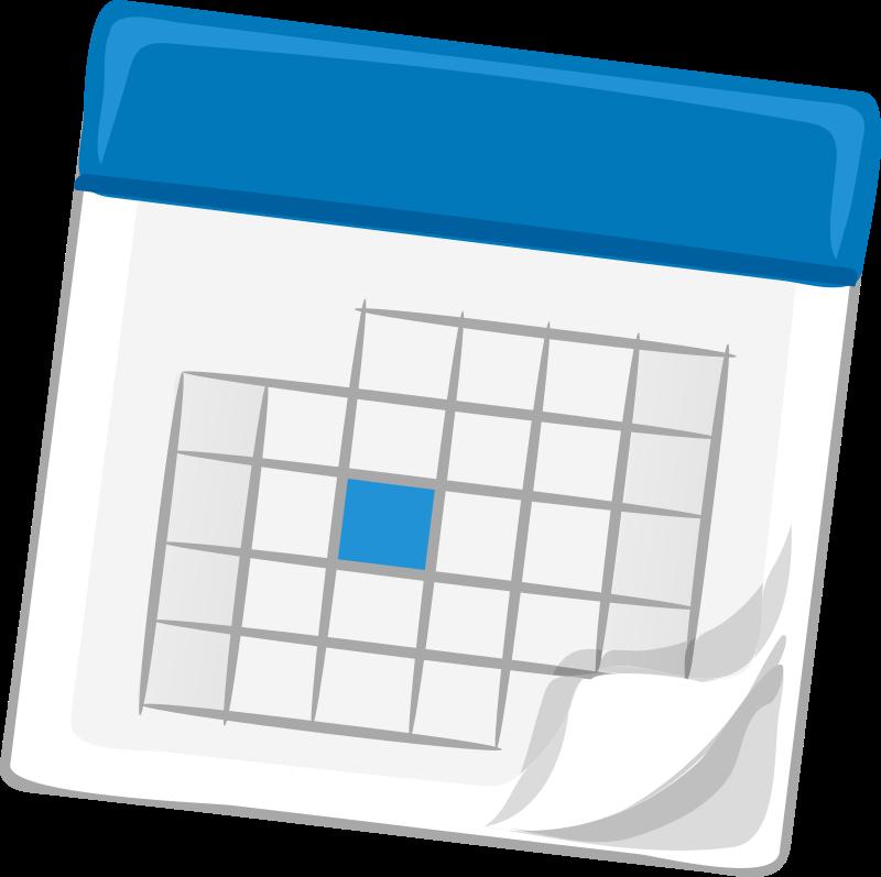 Calendar Art Questions : Clipart calendar blue