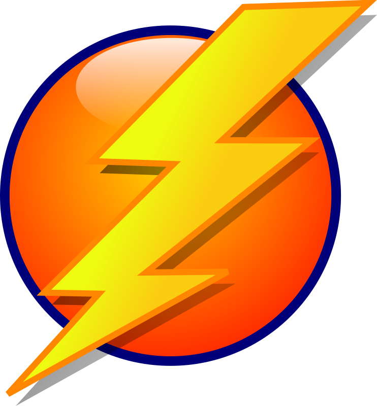 Lightning Icon by bpcomp - A lightning bolt icon by Benji Park. From old OCAL site.