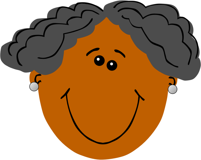 Clipart - Grandma with dark skin